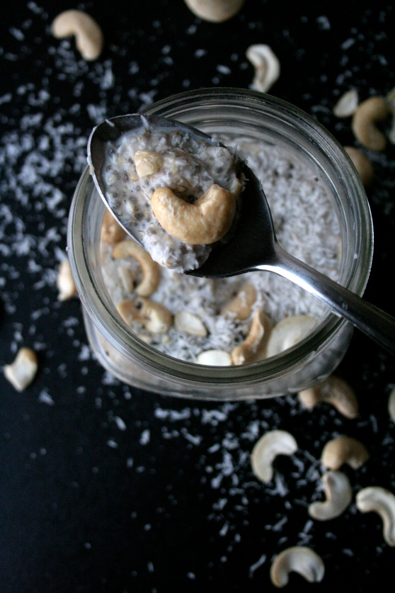 Sugar-Free Coconut Cashew Chia Pudding // Naturally Lindsey